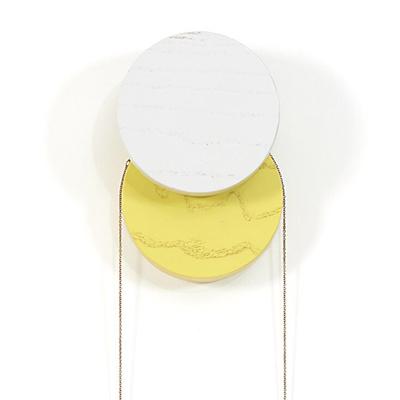 Hartô - patère Lou gris et jaune