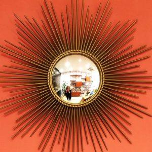 Miroir Chaty Vallauris mobilier chiné chez Dodé à Nantes