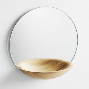 Woud 3 – Miroir Strorage chêne clair