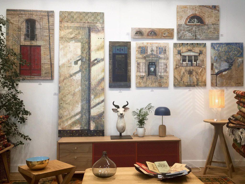 Exposition dans la Boutique-Atelier Dodé à Nantes.