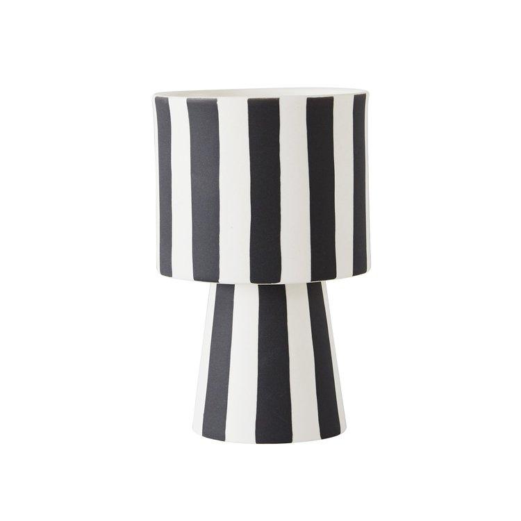 petit vase oyoy noir et blanc