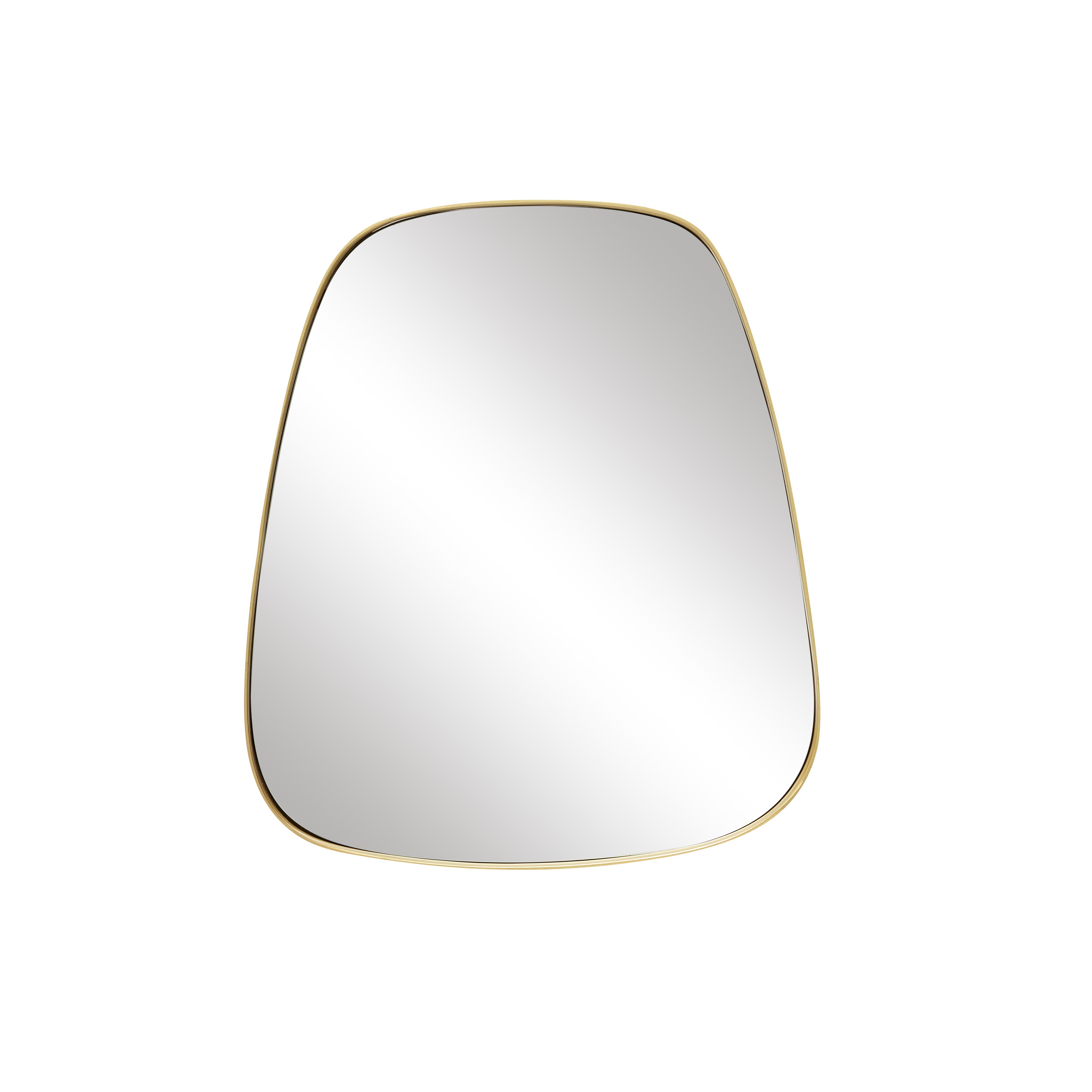 miroir laiton oval