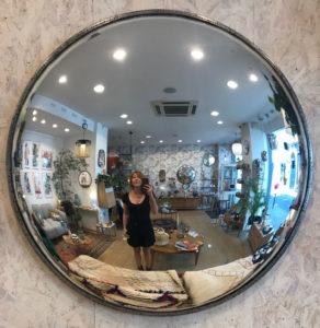 Miroir sorcière Atelier CS Davoy chez Dodé à Nantes